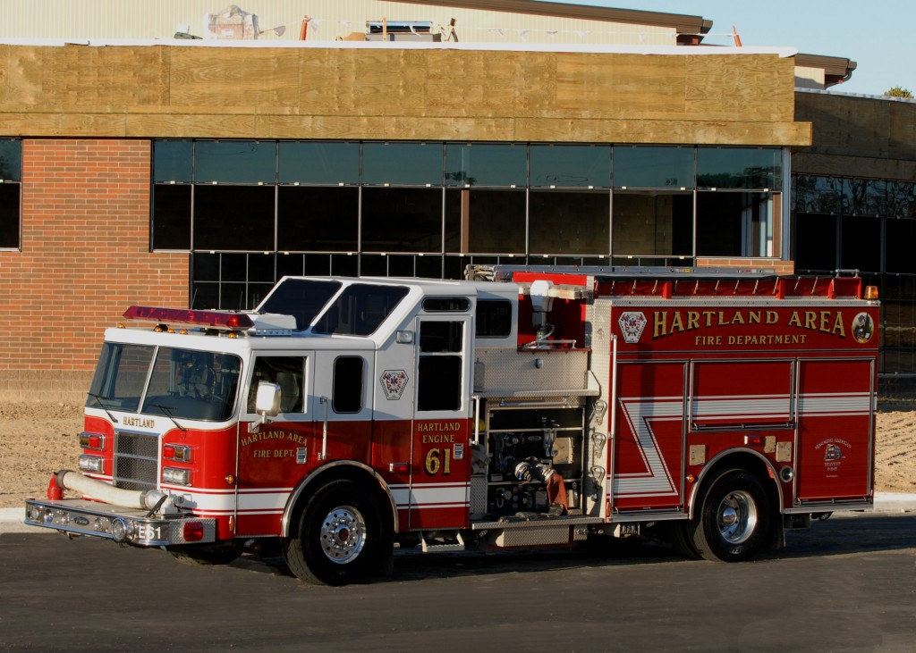 Engine 61 is a 2004 Pierce Class A engine. Holding 1400 gallons of water with a pump capacity of 2000 gallons per minute. Engine 61 is also equipped with CAFS (Compressed Air Foam System).